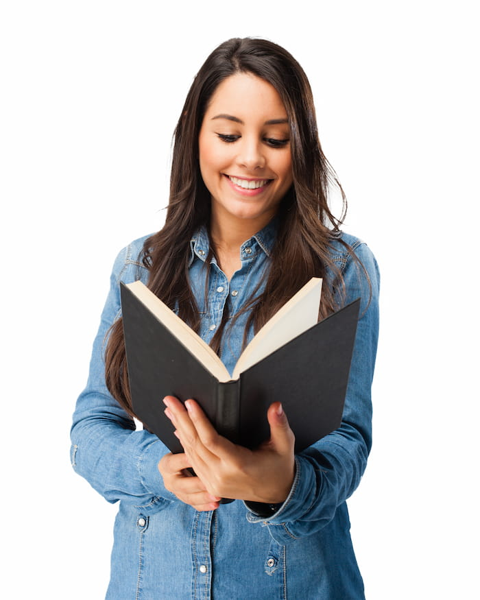 A Smiling Student With A Book