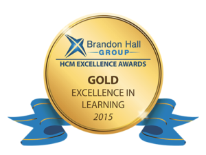 Brandon Hall Award Gold For Excellence In Learning Logo