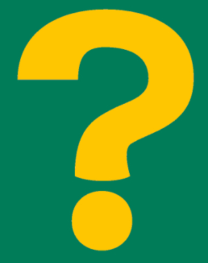 Yellow Question Mark On A Green Background