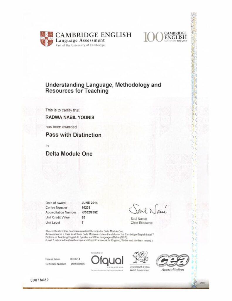 Delta Module 1 Certificate