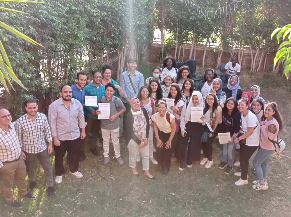Celta Graduates Holding The Certificates